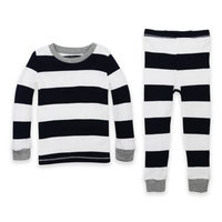 Burt's Bees Baby® Size 3T 2-Piece Rugby Stripe Organic Cotton Pajama Set in Navy