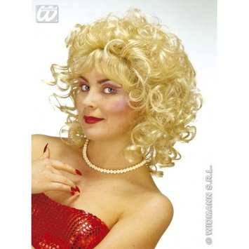 WIDMANN BLONDE Ladies 90s LONG LOSE CURL MILLY WIG Accessory for 90s Brit Pop Retro Fancy Dress Adults Female