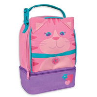 Stephen Joseph Cat Lunch Pals Insulated Lunch Box with Bottom Compartment