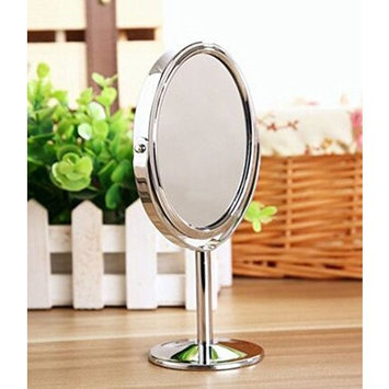 Coco love Tabletop oval Double-Sided Vanity Mirror with 2x Magnification, Makeup Cosmetic Mirror