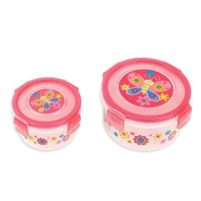 Stephen Joseph® Butterfly Nesting Snack Containers in Pink (Set of 2)