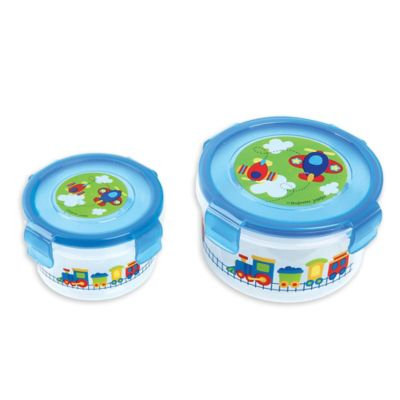 Stephen Joseph® Transportation Nesting Snack Containers in Blue (Set of 2)