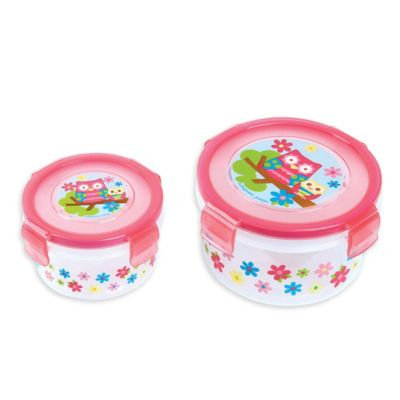 Stephen Joseph® Owl Nesting Snack Containers in Pink (Set of 2)