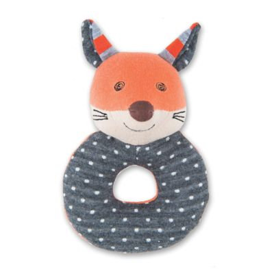 Apple Park Frenchy Fox Teething Rattle