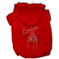 Mirage Pet Products London Rhinestone Hoodies Red XS (8)