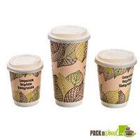 Packnwood 210LGDW8 PLA Lids Double Wall Cups - 8 oz