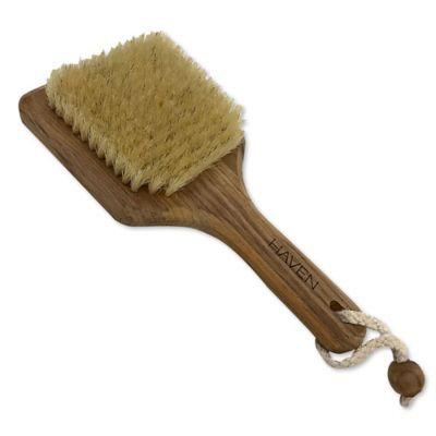 Teak Bristle Body Brush