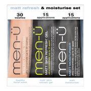 Men-U Matt Moisturise & Refresh Set