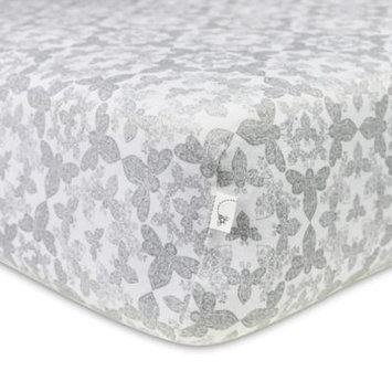 Burt`s Bees Burt's Bees Baby Organic Paisley Bee Fitted Crib Sheet, Multicolor One Size