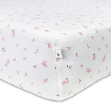 Burt`s Bees Burt's Bees Baby Organic Butterfly Garden Fitted Crib Sheet, Pink One Size