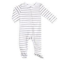 Aden® by Aden + Anais® Size 6-9M Zip-Front Stripe Footie in Grey/White