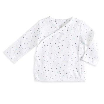 Aden® by Aden + Anais® Size 0-3M Dot Kimono Top in Grey/Blue
