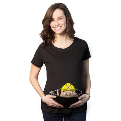 Crazy Dog TShirts - Maternity Peeking Miner Construction Baby Funny Pregnancy Gift T shirt