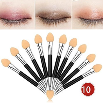 DMZ Double-end Eye Shadow 10Pcs Makeup Eyeliner Brush Sponge Applicator Tool
