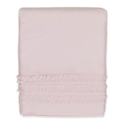 Hello Spud Emma Ruffle Crib Skirt in Pink