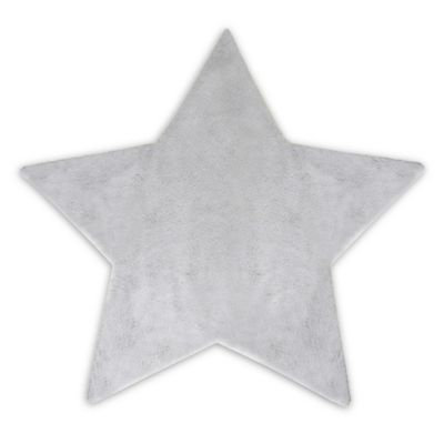 Hello Spud Plush Star-Shape Blanket in Grey