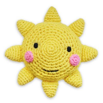 Hello Spud Crotchet Rattle Toy in Sun Yellow
