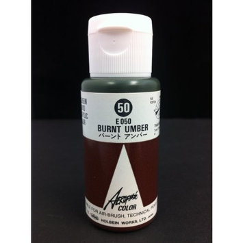 Aeroflash Color (Burnt Umber E-050) 1 Bottle of 35ml From Holbein Japan