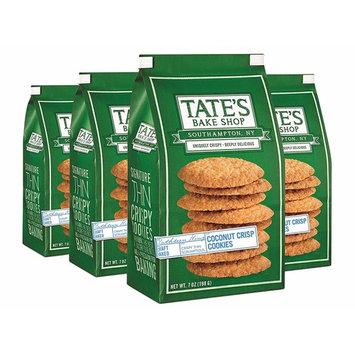 Tate's Bake Shop Coconut Crisp Cookies, 7 Oz Bag, 4Count [Coconut Crisp]