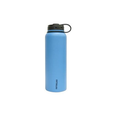 FiftyFifty Blue Vacuum-Insulated Stainless Steel Bottle with Wide Mouth - 40 oz. Capacity