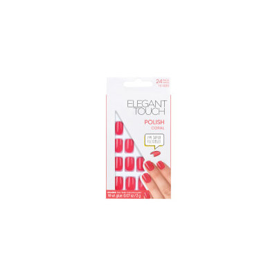 Elegant Touch Pre Polished Nails - Coral