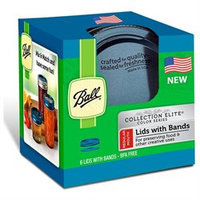 Ball Collection Elite Blue Regular Mouth Color Lids and Bands 6/pk(1440030012)