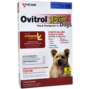 Ovitrol X-Tend Flea & Tick Spot On for Toy Dogs (6-12 lbs) [Options : 3 MONTH]