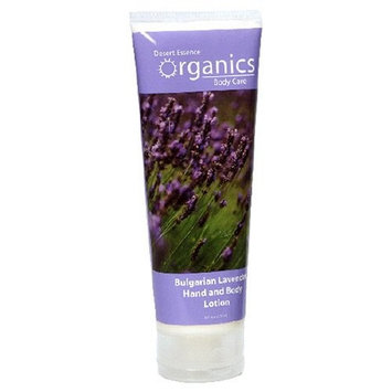 Desert Essence Organics Body Care Hand and Body Lotion, Bulgarian Lavender, 8-Ounces (Pack of 3)