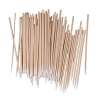 Homyl 100pcs Cotton Swabs Laboratory Wood Handle Makeup Applicator 10cm - Great for wound care, makeup applications, hobbies, crafts and more