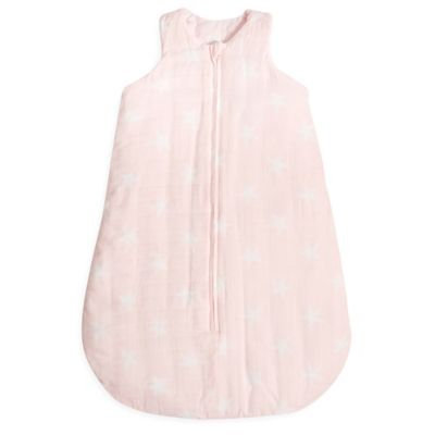 Aden + Anais Flannel & Muslin Wearable Blanket, Size S (0-6m) - Pink