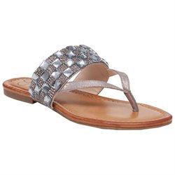 Women's Jessica Simpson 'Kampsen' Sandal, Size 7.5 M - Metallic