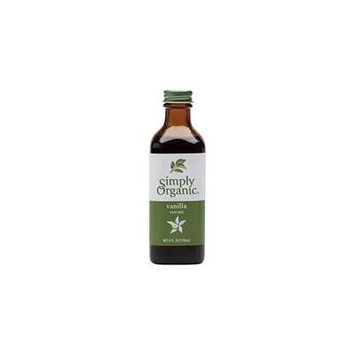Simply Organic Vanilla Extract CERTIFIED ORGANIC 4 fl. oz. bottle (Pack of 5)