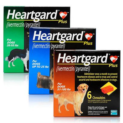 Heartgard Plus Chewables for Dogs Green, 26-50 lbs, 12 Month Supply