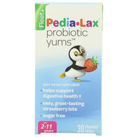 6 Pack Fleet Pedia-Lax Probiotic Yums Chewable Tablet Strawberry 30 Tablets Each