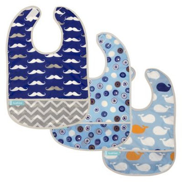 Babies R Us Kushies Cleanbib Boy 3-Pack