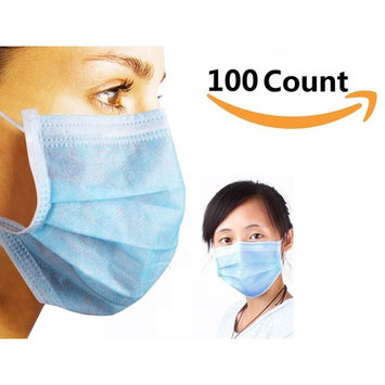 3-Ply Blue Commercial Dental Surgical Medical Disposable Earloop Face Masks . MADE IN USA ! 50/Box ( 50 Count )