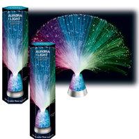 Johnson Smith Co (Set/2) Fiber Optic Aurora Light - Rainbow Color Changing Threads & Crystals
