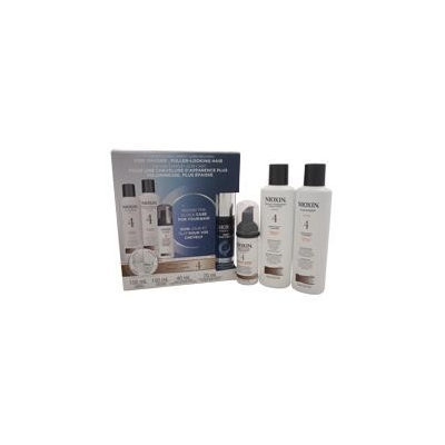 Nioxin System 4 Noticeably Thinning For Fine Hair Kit 5.07Oz Cleanser, 5.07Oz Conditioner, 1.35Oz Scalp & Hair Treatment