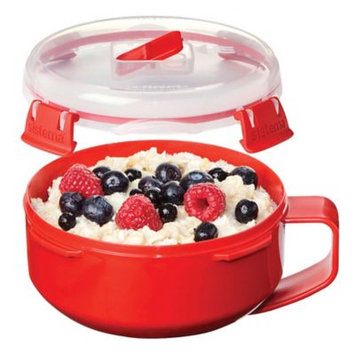 Sistema Klip It Microwave Porridge To Go, 850ml, Red