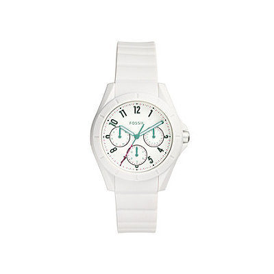 Fossil® Women's Poptastic Watch In White With Silicone Strap