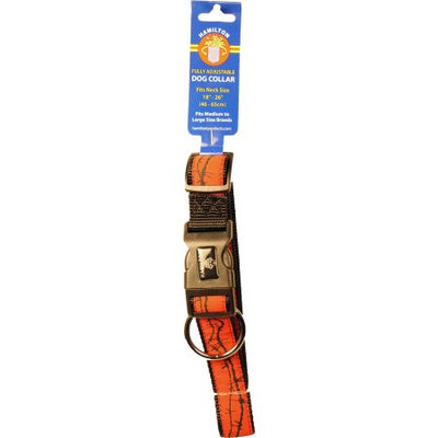 Hamilton Ribbon Overlay Adjustable Dog Collar