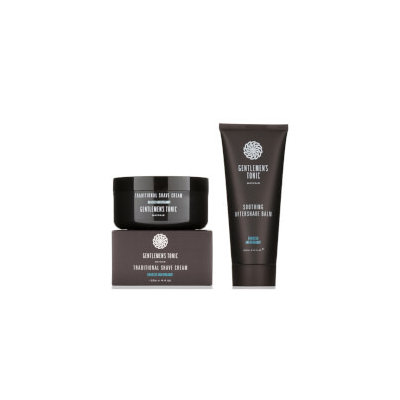 Gentlemen's Tonic Gentlemens Tonic Traditional Shave Cream and Soothing Aftershave Balm Duo