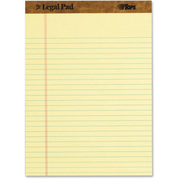 Cardinal Brands Tops Legal Ruled Writing Pads - 50 Sheets - 16 Lb Basis Weight - Legal Ruled - 8.50 X 11.75 - 3 / Pack - Canary Paper (top-75327)