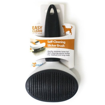 Vu Promo Spetacular Dog Self-Cleaning Slicker Brush, Large