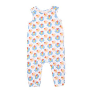 Margherita Kids Size 3-6M Multicolor Floral Sleeveless Romper