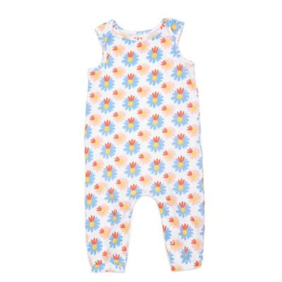 Margherita Kids Size 6-9M Multicolor Floral Sleeveless Romper