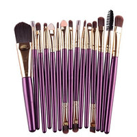 Binmer(TM)15 pcs/Sets Eye Shadow Foundation Eyebrow Lip Brush Makeup Brushes Tool