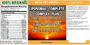 Healthy Drops Liposomal MultiVitamin Complete Complex 16 OZ