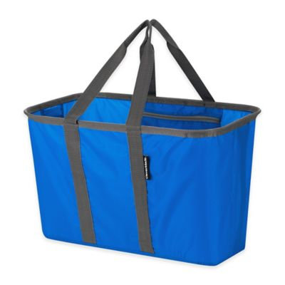 CleverMade - SnapBasket Collapsible Tote - Blue/Gray