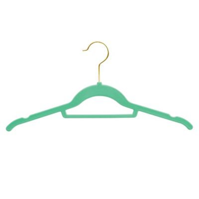 Real Simple® Slimline 40-Count Flocked Suit Hangers in Aqua